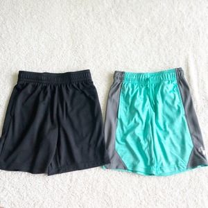 2 Pair Boys Gym Shorts Size Small 5/6